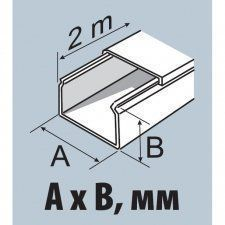 Ecoplast MEX 20x12,5 - миниканал 20х12,5мм (цена за метр, отгрузка кратно 2м)