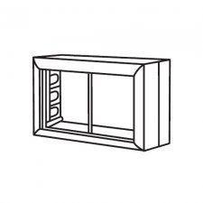 Ecoplast SM45/4 - коробка для открытой проводки на 2 поста 45х45 мм