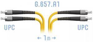SNR-PC-FC/UPC-DPX-A-1m - Патчкорд оптический прямой FC/UPC - FC/UPC, SM (G.657.A1), Duplex, 1 метр