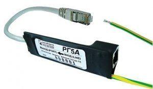 Описание Info-Sys РГ5 Грозозащита марки InfoSys предназначена для защиты сетевого оборудования Ethernet 10/100Base-TX от опасных напряжений, возникающих в результате грозовых разрядов, и индустриальных помех