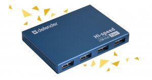 Defender SEPTIMA SLIM - Универсальный USB разветвитель, USB2.0, 7 портов,блок питания 2A