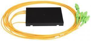 NIKOMAX NMF-SPP1X4A1-SCA-B - Сплиттер планарный 1x4, одномодовый 9/125мкм, стандарта G657.A1, SC/APC, стандартный корпус, с равным коэффициентом деления, 2 мм купить в Казани Описание:Оптические планарные сплиттеры, так же известны как PLC (Planar Lightwave Circuit) делите