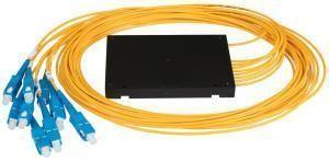 NIKOMAX NMF-SPP1X8A1-SCU-B - Сплиттер планарный 1x8, одномодовый 9/125мкм, стандарта G657.A1, SC/UPC, стандартный корпус, с равным коэффициентом деления, 2 мм купить в Казани Описание:Оптические планарные сплиттеры, так же известны как PLC (Planar Lightwave Circuit) делите