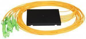 NIKOMAX NMF-SPP1X8A1-SCA-B - Сплиттер планарный 1x8, одномодовый 9/125мкм, стандарта G657.A1, SC/APC, стандартный корпус, с равным коэффициентом деления, 2 мм купить в Казани Описание:Оптические планарные сплиттеры, так же известны как PLC (Planar Lightwave Circuit) делите