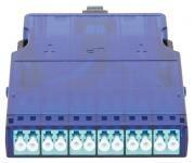 NIKOMAX NMF-CJ12M3PA-MTPM-LCU-1S - Кассета волоконно-оптическая, для панели серии CJ, 1 слот, многомодовая 50/125 мкм, стандарта OM3, 1x MTP/male - 12x LC/UPC, поляризация А, премиум купить в Казани Описание:Кассетные модули предназначены исключительно для монтажа в кассетную панель NIKOMAX NMC-R