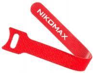 NIKOMAX NMC-CTV210-16-SB-RD-10 - уп-ка 10шт., стяжка-липучка с мягкой пряжкой, 210х16мм, для пучков до 50мм, красная