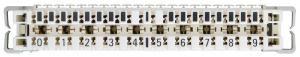 NIKOMAX NMC-PL10-DC-10 - уп-ка 10шт., плинт 10 пар, Кат.3 (Класс C), 16МГц, контакты типа KRONE, размыкаемый, маркировка 0...9, крепление под кронштейн, белый