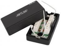 NETLAN EC-UCB-IDC-UD2-WT-10 - уп-ка 10шт., кабельный соединитель (сгонка) IDC-IDC, Кат.5e (Класс D), 100МГц, KRONE, T568A/B, неэкранированный, белый
