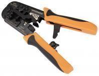 NIKOMAX NMC-5684PT - Инструмент обжимной, 2 гнезда, с храповиком, совместим с коннекторами: RJ45/8P8C (в т.ч. с сквозными), RJ12/6P6C, RJ11/6P4C купить в Казани Описание:Обжимные инструменты (кримперы) предназначены для обжима коннекторов типа Registered Jack
