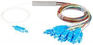NIKOMAX NMF-SPP1X16A1-SCU-M - Сплиттер планарный 1x16, одномодовый 9/125мкм, стандарта G657.A1, SC/UPC, миникорпус, с равным коэффициентом деления, 0.9мм купить в Казани Описание:Оптические планарные сплиттеры, так же известны как PLC (Planar Lightwave Circuit) делите