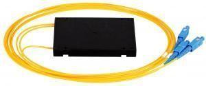 NIKOMAX NMF-SPP1X2A1-SCU-B - Сплиттер планарный 1x2, одномодовый 9/125мкм, стандарта G657.A1, SC/UPC, стандартный корпус, с равным коэффициентом деления, 2мм купить в Казани Описание:Оптические планарные сплиттеры, так же известны как PLC (Planar Lightwave Circuit) делите