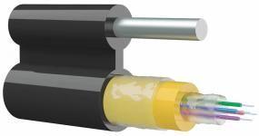 SNR-FOCA-UT1-08-RD-C - Кабель оптический с вынесенным силовым элементом, подвесной, одномодульный, 4кН, 8 волокон купить в Казани Внимание! Кабель поставляется на заводских барабанах по 6км. При отгрузке длинами менее заводс
