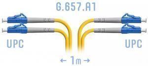 SNR-PC-LC/UPC-DPX-A-1m - Патчкорд оптический переходной LC/UPC - LC/UPC, SM (G.657.A1), Duplex, 1 метр (42875) купить в Казани Оптический патчкорд предназначен для подключения функциональных блоков оптического телекоммуни