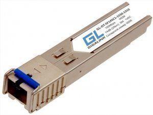 Оптический модуль GIGALINK GL-OT-SF14SC1-1310-1550 (старый артикул - GL-09T) выполнен в форм-факторе SFP и реализует дуплексную передачу данных по одному одномодовому волокну на расстояние до 20 км