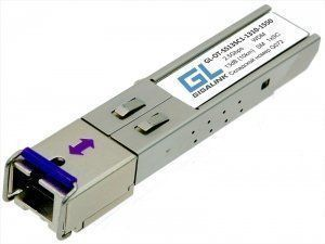 SFP модуль GIGALINK GL-OT-SS13SC1-1310-1550, SFP, WDM, 2,5Гбит/с, одно волокно SM, SC, Tx:1310/Rx:1550 нм, 13 дБ (до 10 км) (GL-2G10-1310/1550)