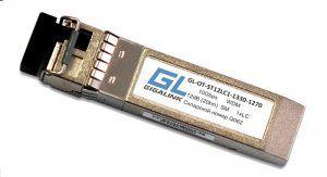 SFP модуль GIGALINK GL-OT-ST12LC1-1330-1270, SFP+, WDM, 10Гбит/с, одно волокно, SM, LC, Tx:1330/Rx:1270 нм, 12 дБ (до 20 км) (GL-P20R)