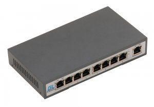 GIGALINK GL-SW-F002-08P - Коммутатор неуправляемый, 8 PoE (802.3af) портов 100Мб/с, 1 Uplink порт 100Мб/с, увеличенная дальность передачи данных до 150м, 120Вт