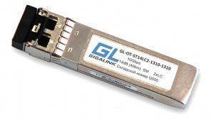 GIGALINK GL-OT-ST14LC2-1310-1310 - SFP+модуль, 10Гбит/с, два волокна, SM, 2хLC, 1310 нм, 14 дБ (до 40 км) (GL-P40)
