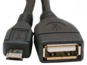 Кабель USB 2.0 AF -> Micro 5P OTG 0.8м ATcom (АТ16028)