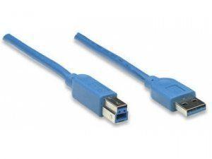 ATcom АТ2823 - 1.8м, кабель USB 3.0 AM/BM blue для периферии