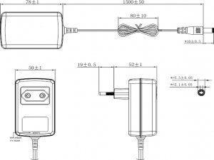 GIGALINK GL-PS-PSU12V2A - блок питания для инжекторов GL-PE-INJ-AF-F и GL-PE-INJ-AT-F, 12V, 2A
