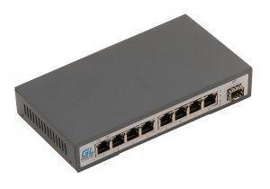 Коммутаторы GL-SW-F001-08PS от GIGALINK дают возможность объединить линию передачи данных и цепь питания в одном Cat-5 кабеле благодаря технологии Power over Ethernet (PoE)