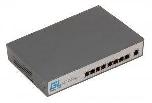 GIGALINK GL-SW-F001-08HP - PoE-коммутатор неуправляемый, 8*PoE (802.3at High Power) портов 100Мб/с, 1 Uplink порт 100Мб/с, 220Вт