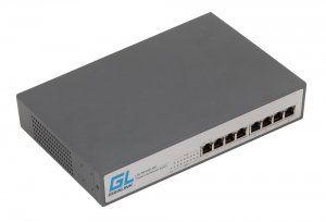 GIGALINK GL-SW-G001-08P - Коммутатор неуправляемый, 8 PoE (802.3af) портов 1Гбит/с, 120Вт