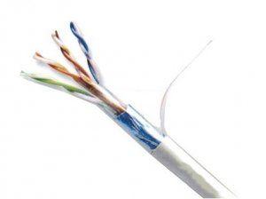 Витая пара ATcom Standard FTP LAN cable CAT5E (FTP 0,48mm CCA за бухту 305м) фольгированная витая пара (англ. FTP — Foiled twisted pair), также известна как F/UTP) — присутствует один общий внешний экран в виде фольги