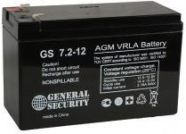 GENERAL SECURITY GS 7.2-12 - аккумуляторная батарея AGM, 7.2Ач, 12В