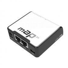 Описание Mikrotik mAP 2nD Беспроводной компактный роутер, разработанный компанией Mikrotik. Представляет собой корпусный Ethernet роутер с двумя портами + WiFi радиомодуль, работающий на частоте 2