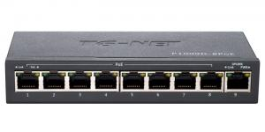 TG-NET P1009D-8PoE-60W - Коммутатор неуправляемый, 8 PoE (802.3af) портов 100Мб/с, 1 Uplink порт 100Мб/с, 60Вт