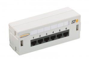 Патч-панель NIKOMAX, настенная, 6 портов, Кат.6, RJ45/8P8C, 110, T568A/B, неэкранированная, светло-серая (NMC-WP06UE2-GY)Коммутационные панели (патч-панели) предназначены для разделки в них кабелей различных подсистем СКС и подключения отдельных составляющих сети друг к другу коммутационными шнурами