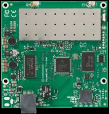 Описание Mikrotik RB711-5HnMikrotik RB711-5Hn - многофункциональная материнская плата с интегрированным радиомодулем. WiFi модуль работает в диапазоне 5ГГц и поддерживает стандарты 802