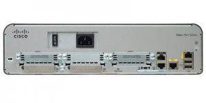 Cisco 1941-SEC/K9 - Маршрутизатор, 2 порта 10/100/1000BaseT Ethernet, 3 слота WAN (EHWIC) либо 1 слот WAN (Doublewide EHWIC) и 1 слот WAN (EHWIC)