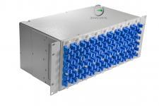 Описание: Кросс оптический стоечный 4U (предсобранный) 144 порта SC/UPC, 9/125 мкм Оптический кросс для коммутации и защиты оптико-волоконных кабелей