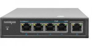 Характеристики: Модель PUS-T04-60M Тип PoE коммутатор неуправляемый PoE порты 4x10/100BASE-TX 802.3af&at Аплинк порты 1x10/100BASE-TX Распиновка V+ (Pin 3, 6), V- (Pin 1, 2) Uвых на порт, В DC 48 Потребление коммутатора без PoE, Вт 6 PoE P макс на порт, Вт 30 PoE бюджет, Вт 60 PoE бюджет с доп