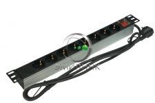 Описание: Используются для подключения активного оборудования к сети электропитания. Устанавливаются на 19'' направляющие. Рабочее напряжение - 220/240В~