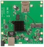 Описание MikroTik RBM11G Полнофункциональное устройство RouterBOARD предназначено для встраивания в пользовательский корпус или сборки индивидуальных беспроводных решений