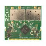 Описание MikroTik R52HnD Wi-Fi радиокарта R52HnD является улучшенной версией моделиR52Hn. Имеет два разъёма MMCX, две цепи радиомодуля и увеличенную выходную мощность (до 26 дБм)