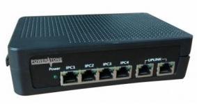 POWERTONE PUS-TT04-67M - PoE коммутатор неуправляемый, 4x10/100BASE-TX 802.3af&at + 2x10/100BASE-TX, PoE бюджет 67Вт, до 30Вт на порт