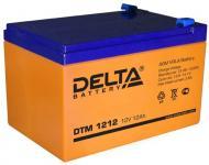 Delta DTM 1212 - Аккумуляторная батарея, AGM, 12Ач, 12В