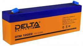 Delta DTM 12022 - Аккумуляторная батарея, AGM, 2.2Ач, 12В