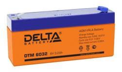 Delta DTM 6032 - Аккумуляторная батарея, AGM, 3.2Ач, 6В