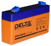 Delta DTM 6012 - Аккумуляторная батарея, AGM, 1.2Ач, 6В