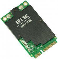 Описание MikroTik R11e-2HnD Отлично подходит для новых плат RB912, RB800 или адаптеров RB11e для x86. Радиокарта имеет LED индикаторы, которые отображают режимы работы, состояние подключения (подключено, поиск, отключено), активность передачи данных и уровень сигнала, что позволяет легко производить установку и юстировку оборудования