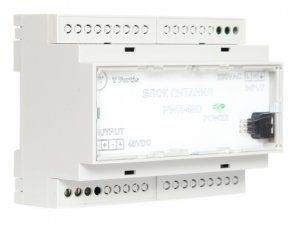 Описание TFortis PWR-48D- блок питания для использования с коммутатором для IP-видеонаблюденияTFortis SWD-1. Имеет модульное исполнение икрепится на DIN-рейку