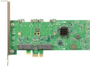 Описание Mikrotik RB14eRB14E легко инсталлируется в любой персональный компьютер, имеющий разъём PCIe. А её слоты miniPCIe используются для установки Wi-Fi радиокарт (при необходимости использования 3G/4G-модемов выбирайте версию RB14eU)
