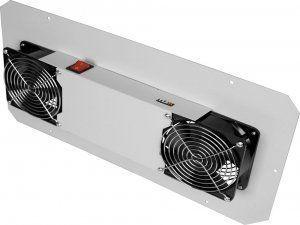 Вентиляторный блок для настенных шкафов серии TWC, TWA и напольных шкафов глубиной 400мм, 2 вентилятора, без шнура питания, серый в Казани