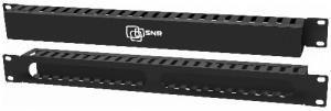 Горизонтальный кабельный органайзер SNR-FB-ORG-2, с крышкой, металлический, 1U, установка в 19-дюймовые монтажные конструктивы Описаение: Кабельные организаторы(cable organizers) предназначены для упорядочивания кабельных магистралей внутри телекоммуникационных шкафов и стоек